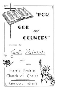 God's Patriots - For God and Country - Program Bulletin